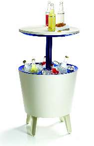 Keter Cool Bar Plastic Outdoor Ice Cooler Table 34 99