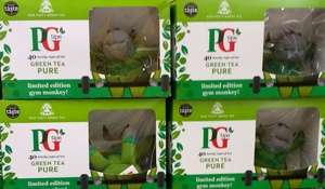PG Tips 40 Green Tea + Limited Edition PG Tips Gym Monkey Toy £1.38 @ Morrisons Instore