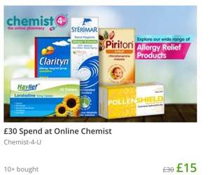 Get a £30 Chemist 4 U voucher for £11.25 to spend on anything including sale items using stack via Groupon e.g. shampoo, deodorant, beauty items, electric toothbrush, prescriptions and more