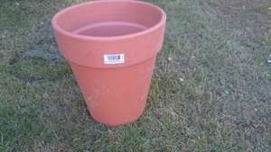 Large terracotta plant pot £1 instore @ Tesco Oldham