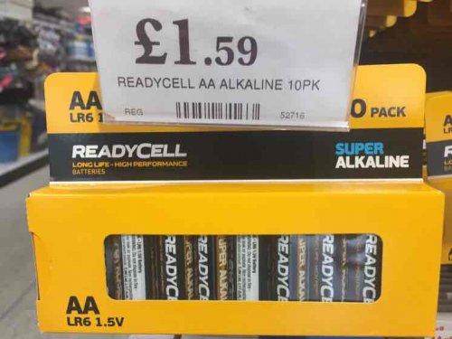 10x AA Super Alkaline Batteries @ Home Bargains £1.59