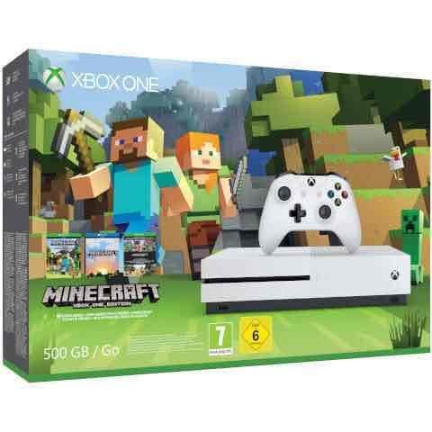 White Xbox One S 500gb Console inc MineCraft Favourites Bundle now £182.99 @ zavvi