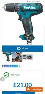 Makita DF331DZ 10.8v CXT Slide Drill Driver Body Only at Power Tool World for £21 + £5 delivery