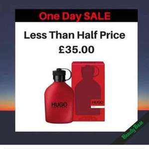 HUGO BOSS Hugo Red Eau De Toilette 200ml Spray @ BeautyBase. NOW £35.00. Was £71.00. Save £36.00 (51%) at Beautybase