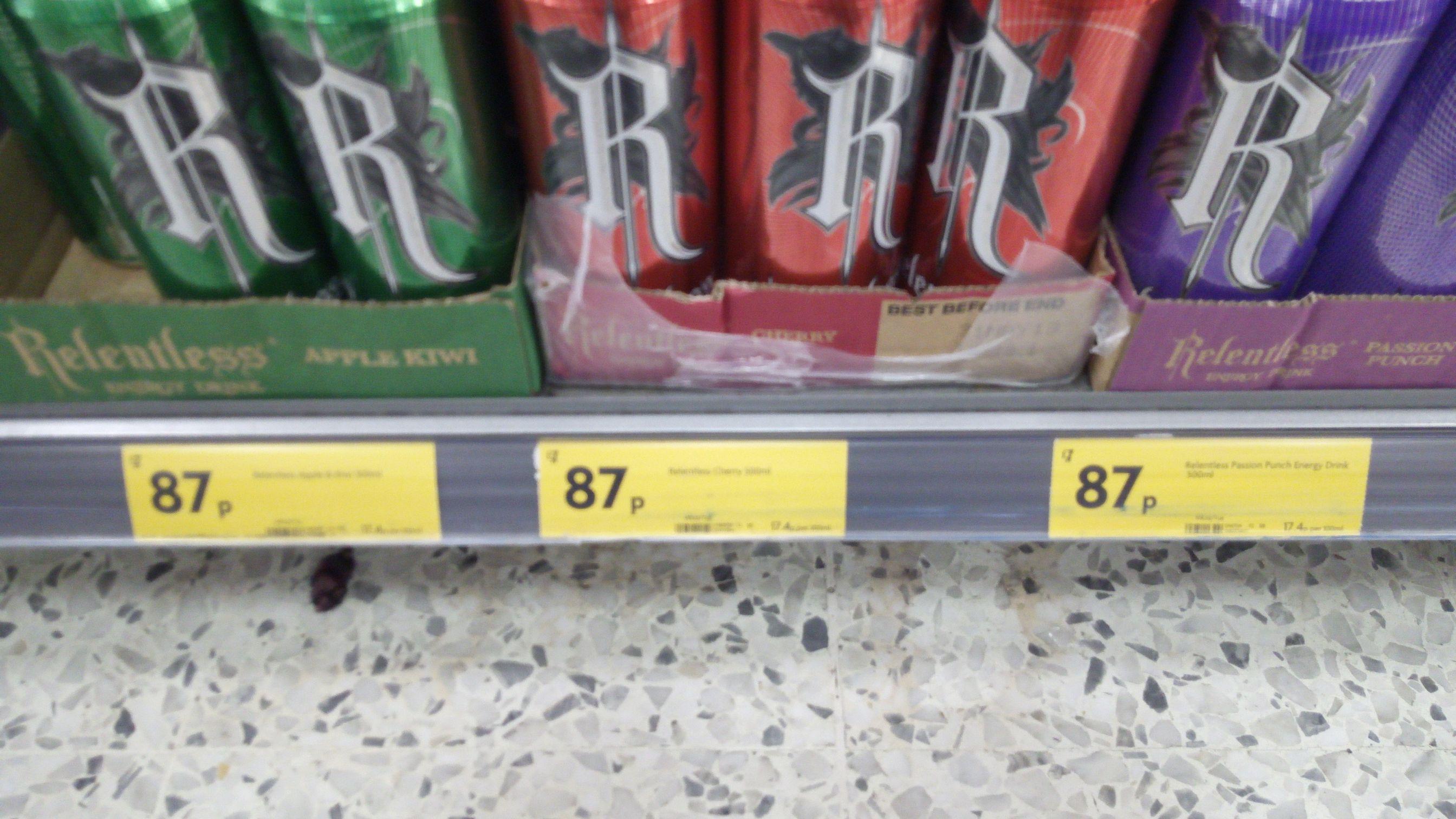 Morrisons Relentless drinks - 87p