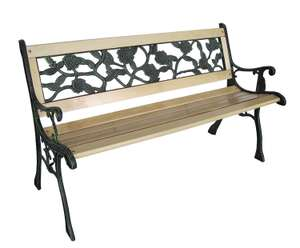 Livio 2 seater wooden garden bench with rose design back was £49.99 now £34.99 delivered @ Amazon / FiNeWaY