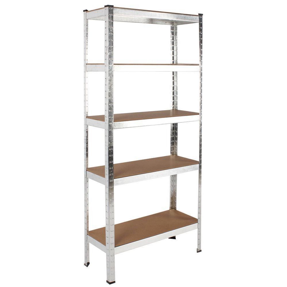 500kg Heavy Duty 5 Tier Metal Storage Garage File Shelving Racking £22.95 rtwdirectsales / Ebay