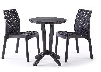 Keter Bistro 2 Seater Rattan Outdoor Garden Furniture Set £49.99 @ Amazon