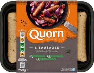 Quorn Meat Free Sausages (6 per pack - 250g) was £2.00 now £1.00 (Rollback Deal) @ Asda