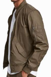 Khaki Bomber Jacket £6.74 delivered using voucher @ H&M