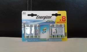 Energizer batteries eco advanced 8 pack (AA and AAA) scanning at £1 @ Asda living Guiseley
