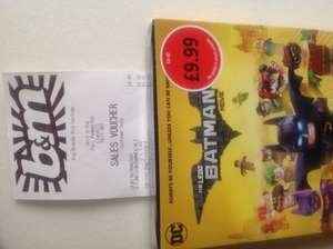 Lego Batman Movie on DVD / UV code £4.99 B&M  instore national