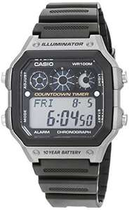 Casio AE-1300WH-8AV Men's Quartz Watch with Silver Dial Analogue - Digital Display and Black Resin Strap, 10 Year Battery, 100m Water Resistance, £14.99 (Prime), £18.98 (Non-Prime) @ Amazon