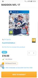 MADDEN NFL 17 PS4 £19.99 @ The game collection