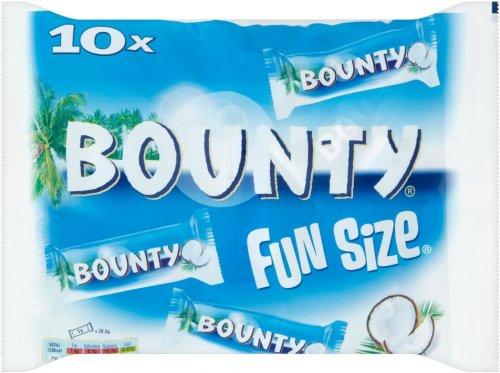 Bounty Chocolate Bars Fun Size (10 = 303g) / Mars Bars Fun Size (13 19g = 250g) / Snickers Funsize Chocolate Bars (13 x 19g = 250g) / Milky Way Chocolate Bar Fun Size (14 x 16.2 = 226g) was £2.50 now £1.50 @ Sainsbury's