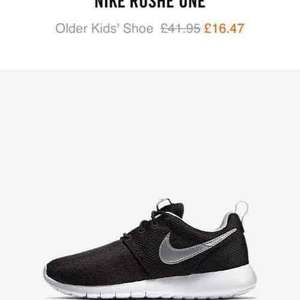 Nike roshe one older kids Nike store online - £16.47 (free del for Nike + subscribers)