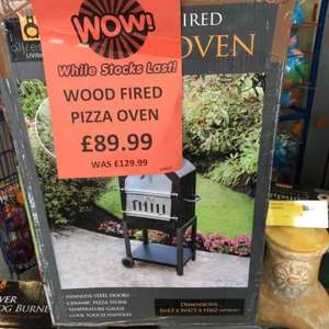 Wood fired pizza oven BBQ £89.99 @ B&M bargains (found Exeter, should be nationwide)