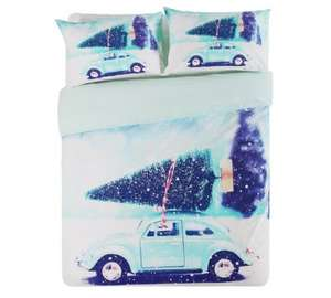 HOME Christmas Car Bedding Set - Double £4.99 @ Argos