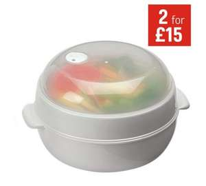 HOME 21cm 2 Tier Microwave Steamer at Argos for £1.99