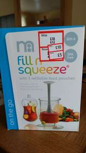 Fill and squeeze. Food pouch filler - £5 instore @ Mothercare (Telford)