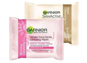 Garnier Micellar Wipes Morning & Night Pack 25 + 25 = £1.62 delivered @ Superdrug