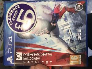 Mirror's Edge Catalyst PS4 £5.00 @ Smyths instore (Chelmsford)