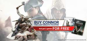 Crazy Wednesday Offer - Buy Assassin's Creed III Connor Last Breath Statue and get 2 PC Digital Games Free (24 Hours Only) - £59.99 @ Ubi Store