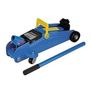 Silverline 633935 Hydraulic Trolley Jack 2 ton - £15.49 (Prime) £20.24 (Non Prime) @ Amazon