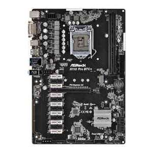 ASRock Intel H110 Pro BTC+ 13 PCIe Cryptocoin Mining ATX Motherboard - £155.47 Delivered @ Scan