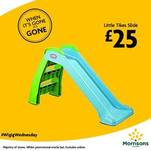 Little Tikes slide now £25 instores - when it's gone it's gone Wednesday deal @ Morrisons