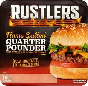 Rustlers Flame Grilled Quarter Pounder with Cheese and Signature Sauce (190g) was £2.20 now £1.10 @ Tesco