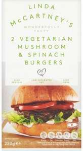 Linda McCartney 2 Vegetarian Mushroom and Spinach Burgers (220g) was £1.75 now £1.31 @ Waitrose