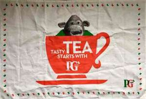 Free tea towel with PG Tips 160 tea bags - £3 instore at Morrisons