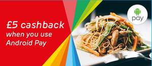 £5 Cash back on Just Eat using Android Pay
