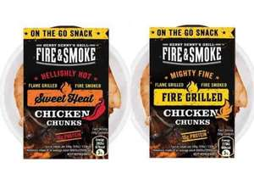 Fire and Smoke: Chicken Chunks 50g via CheckoutSmart - FREE 100% Cashback
