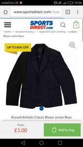 £1 blazers @ Sports direct (4.99 delivery)