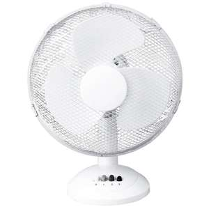 "NEW! 12"" 3 SPEED OSCILLATING FREE-STANDING COOLING DESK TABLE FAN - £14.75 @ ebay (rtwdirectsales)"