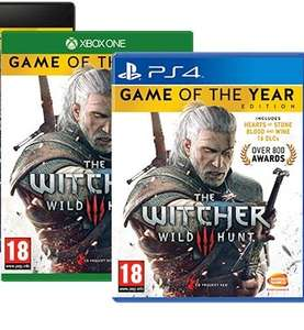 The Witcher 3 Game of the Year Edition (Xbox One) - £17.87 (prime) / £19.86 (non prime) | The Witcher 3 Game of the Year Edition (PS4) - £20.86 @ Amazon