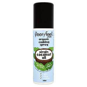 The Groovy Food Company Organic Cooking Spray with Virgin Coconut Oil, Pack of 3 - £2.50 @ Amazon (Add on item)
