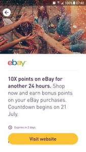 Nectar ebay 10x points - 10x points 21st 12pm till 22nd 12pm.