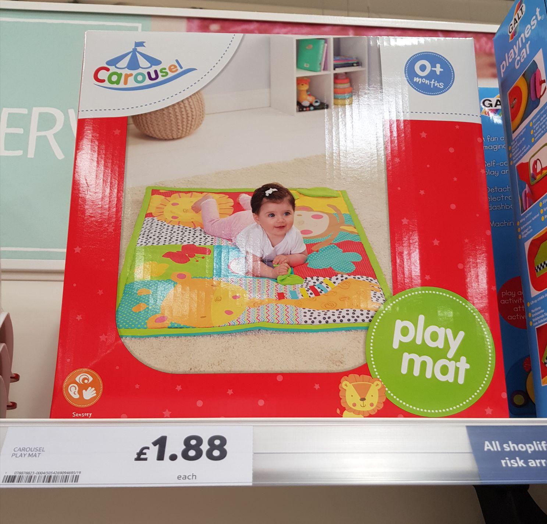 Carousel sensory play mat 0+ months - £1.88 instore @ Tesco (Chesterfield)
