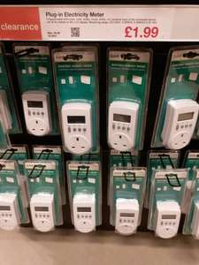 Plug-in Electricity Meter, Clas Ohlson in-store Liverpool usually £9.99, reduced to clear £1.99 instore @ Clas Ohlson