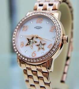 Rotary Ladies' Stars Mother Of Pearl Face, Rose Gold Bracelet (Automatic) Watch (Refurb) £21.99 @ Argos Ebay