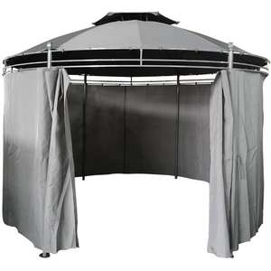 Round Patio Gazebo With Curtain Party Tent now £128.24 @ Manomano