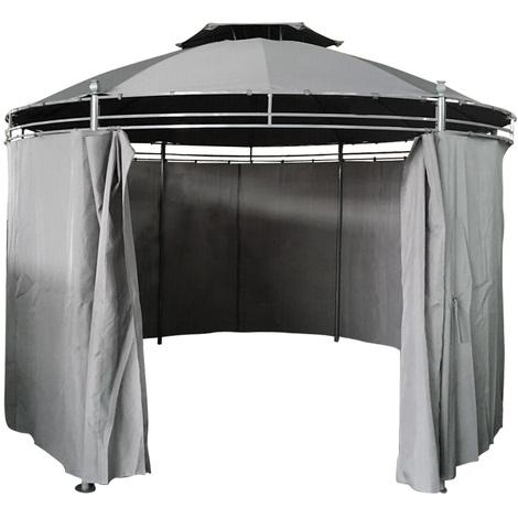 Round Patio Gazebo With Curtain Party Tent now £128.24 @ Manomano