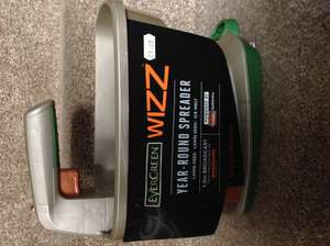 Evergreen Wizz battery powered easy seed, grass & granule spreader £1 wilko instore  port talbot