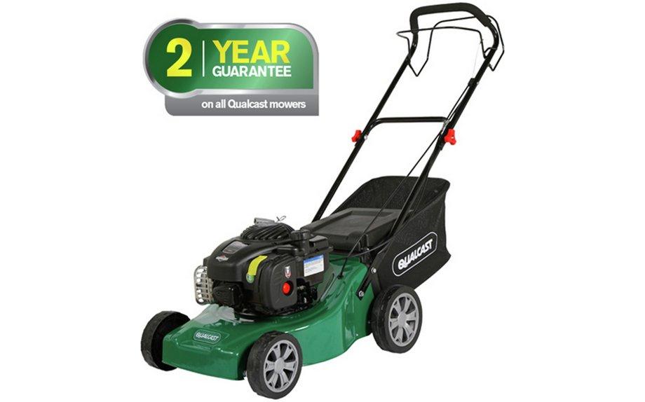 Hidden deal: Qualcast 41cm petrol lawnmower 125cc, 2yr guarantee (C&C free or £3.95 del) at Argos for £109.99