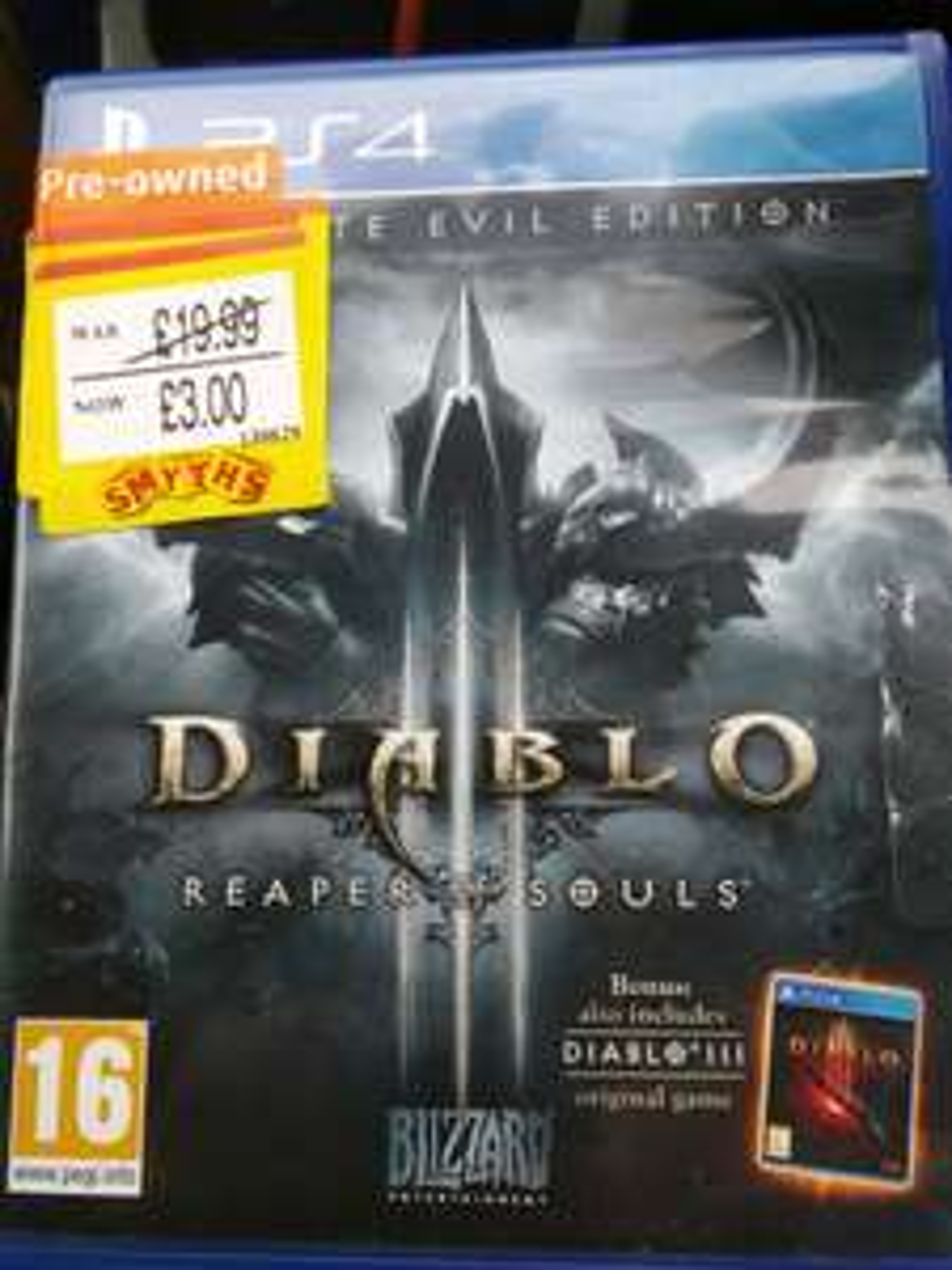 Diablo ultimate evil edition pre owned £3 Smyths PlayStation 4