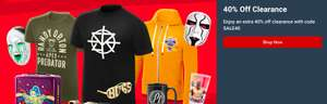 Extra 40% ALL Clearance Items @ WWE Euroshop