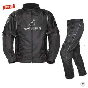 Agrius Orion Motorcycle Jacket & Hydra Trousers Black Kit  £85.49 W/Code (Free Next Day Del) @ Ghost Bikes